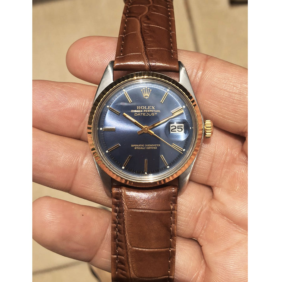 Rolex Datejust 1601 Two Tone Blue Dial Upper Watches