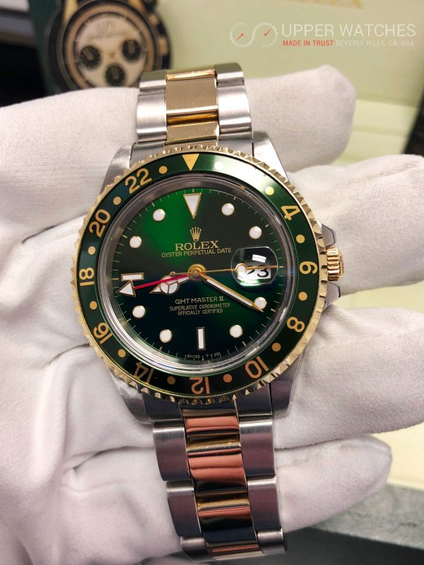 Rolex GMT MASTER II Gold \u0026 Stainless Steel 2 tones Green Hulk Dial MINT