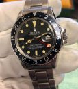 Rolex 1675 gmt master box and paper black insert