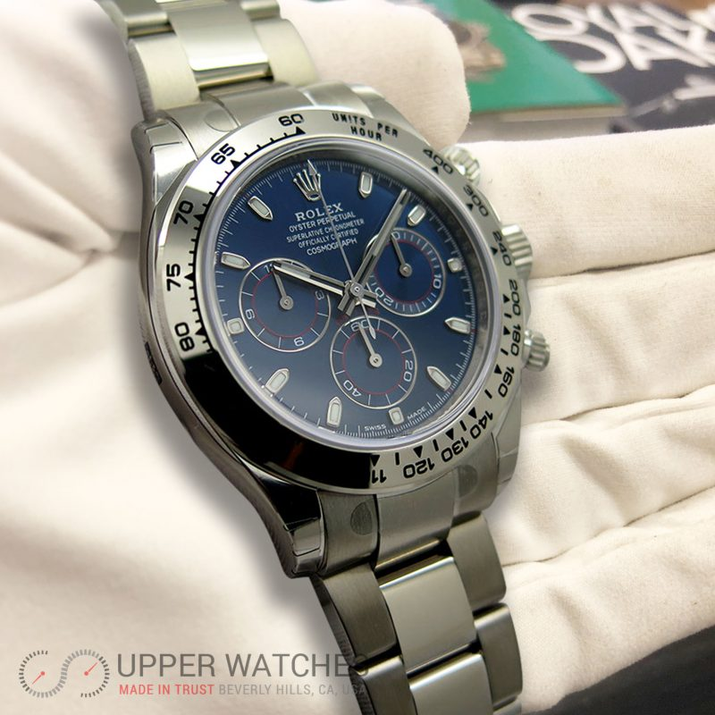 Rolex 116509 Cosmograph Daytona 18k White Gold With Blue Dial