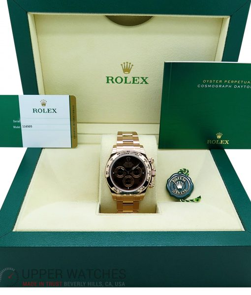 Rolex 116505 Cosmograph Daytona 18K Rose Gold with Chocolate Dial