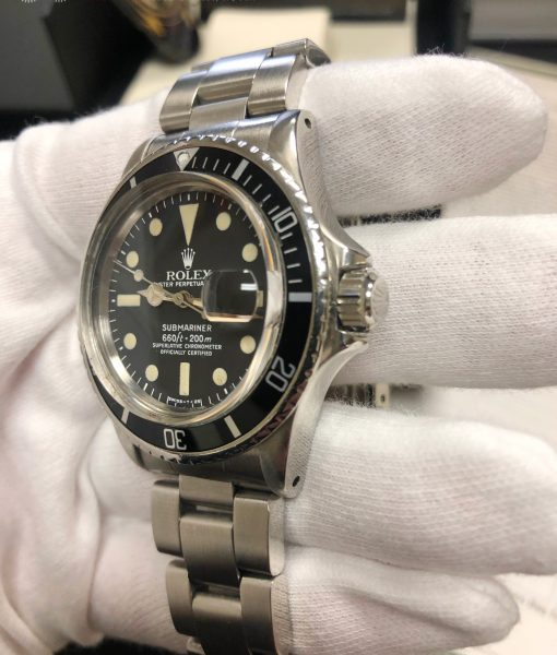 Rolex 1680 Submariner Mark I Dial Stainless Steel Watch Circa 1976
