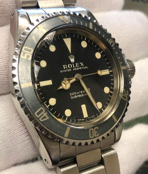 ROLEX 5513 METER FIRST FADED INSERT VINTAGE CIRCA 1966 with Box