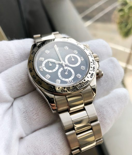 Rolex Daytona White Gold 116509 black diamond dial - Service papers