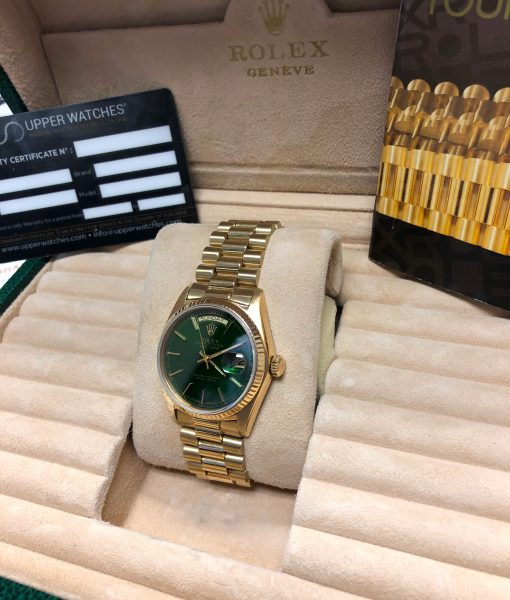 Rolex 18038 Oyster Perpetual Day-Date 18K Yellow Gold Automatic Men's Watch